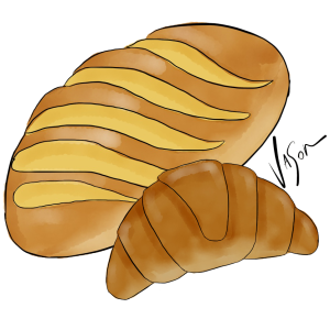 Picture of bread with croissant