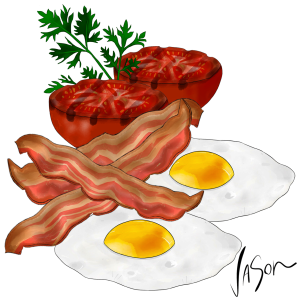 Picture of bacon and eggs