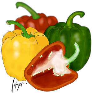 Picture of capsicums