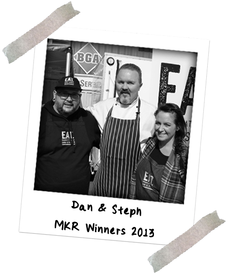 Image of Chef Jason Ford with Dan & Steph