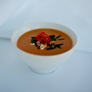 Spicy pumpkin & peanut soup