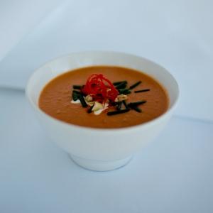 Spicy pumpkin & peanut soup