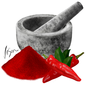 mortar and pestle with peppers 640x640