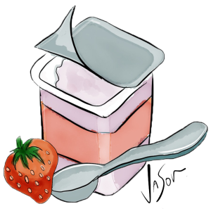 Illustration of yoghurt