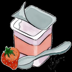 Illustration of yoghurt