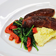 Link to Pork sausages on cheesy polenta recipe