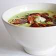 Link to recipe for avocado soup with fried pancetta