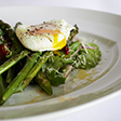 Link to recipe for sauteed asparagus and avocado salad with poached egg