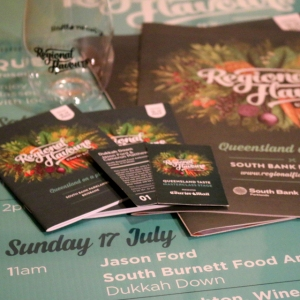 picture of Regional Flavours presenter line-up poster and event guide