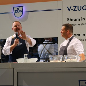 Picture of Jason Ford on the Main Stage with MasterChef's Gary Mehigan
