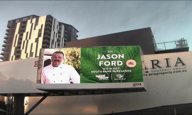 Picture of Billboard of Chef Jason Ford in Brisbane