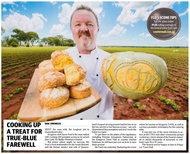 Image of 04/01/2018 - The Courier Mail (Lady Flo State Funeral, Pumpkin Scones)